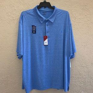 IZOD Men's Blue Polo Shirt Size 4XL Big & Tall